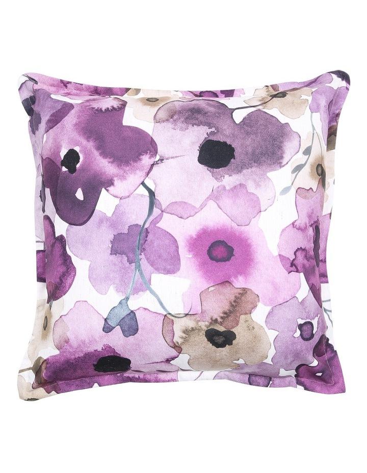 Luanda Floral Printed Cushion in Purple image 1
