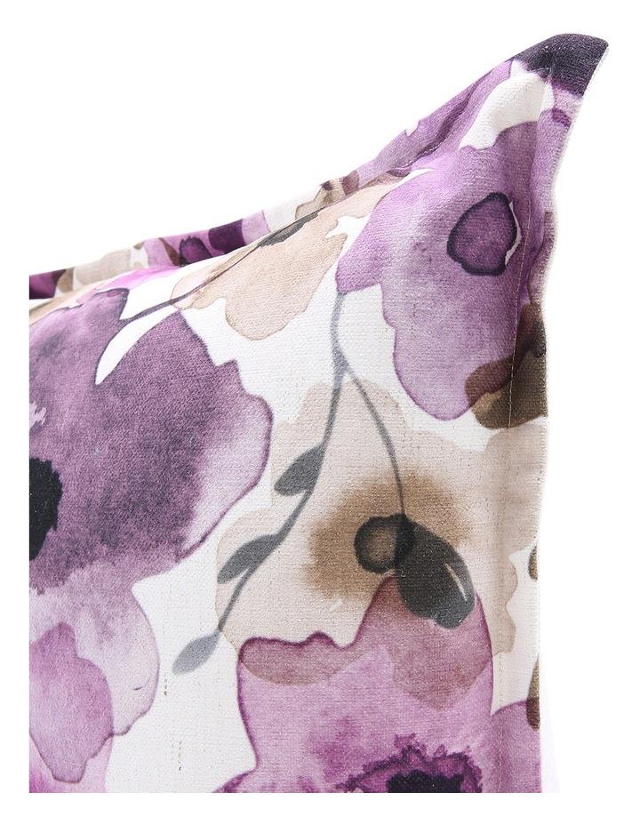 Luanda Floral Printed Cushion in Purple image 2
