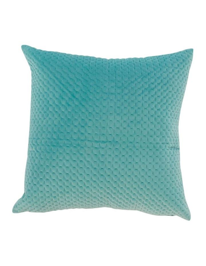 Bolivia Velvet Cushion in Aqua image 2