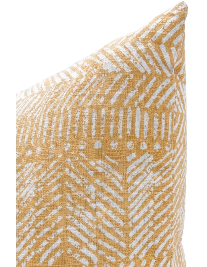 Zambia Printed Cotton Cushion in Golden Apricot image 2