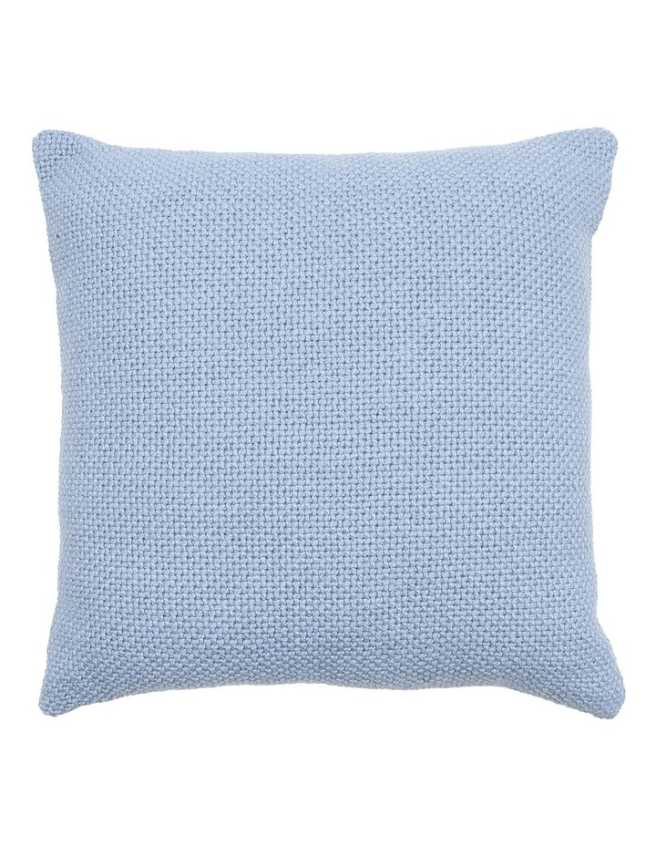Zola Cotton Cushion in Blue image 1
