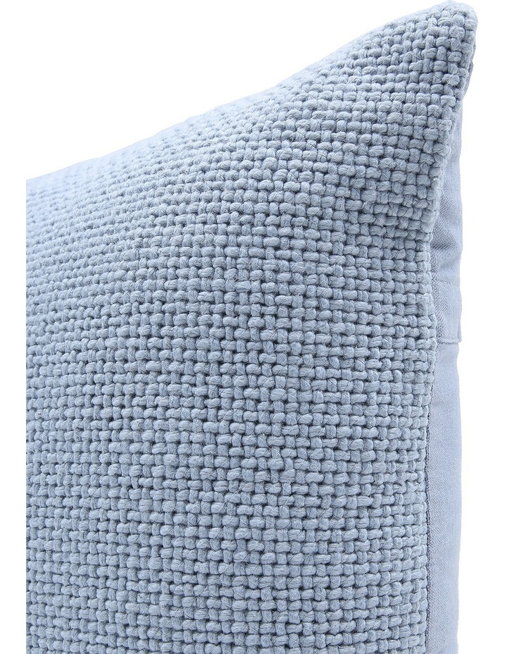 Zola Cotton Cushion in Blue image 2