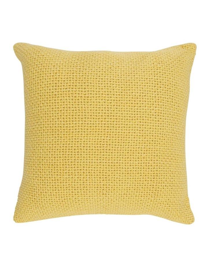 Zola Cotton Cushion in Golden Cream image 1
