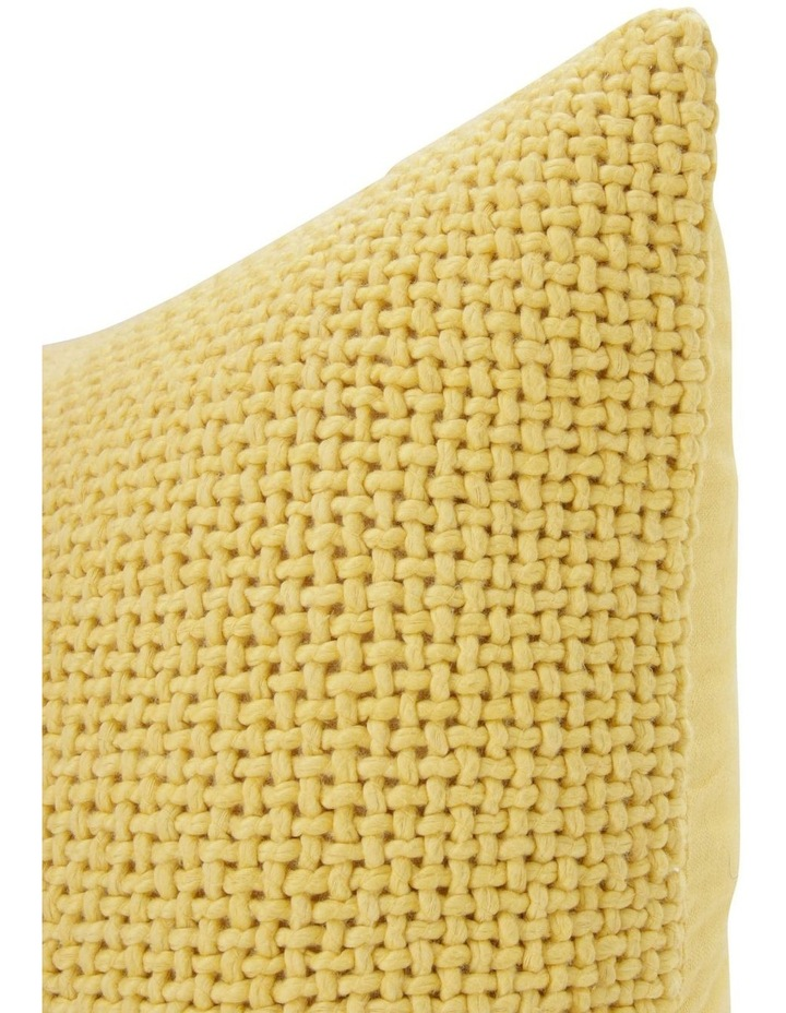 Zola Cotton Cushion in Golden Cream image 2
