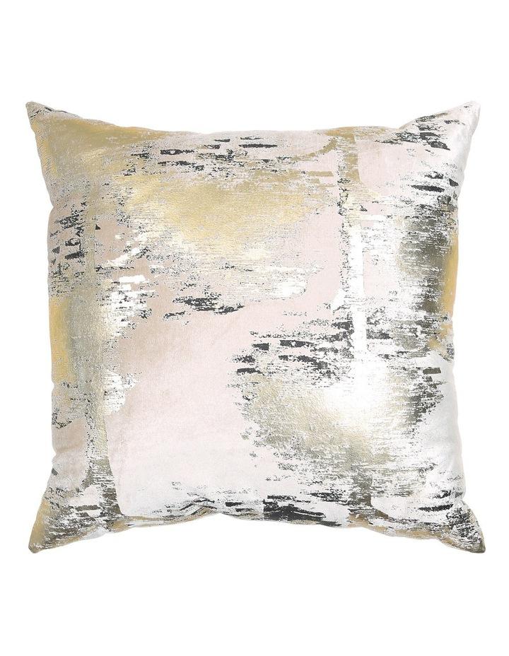 Marigold Velvet Printed Metaliic Cushion in Gold/Black image 1