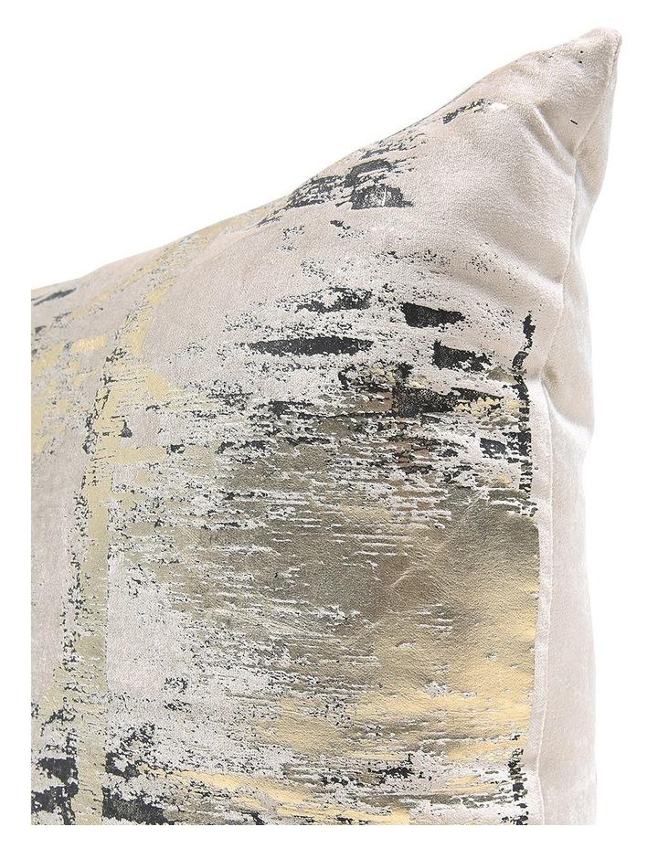 Marigold Velvet Printed Metaliic Cushion in Gold/Black image 2