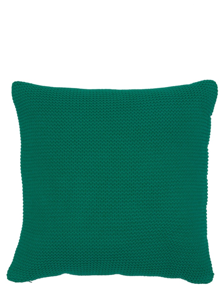 Melaky Knitted Cushion in Green image 1