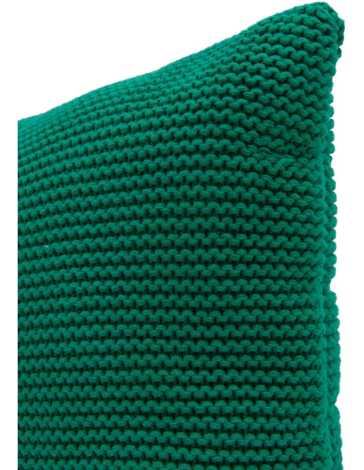 Melaky Knitted Cushion in Green image 2