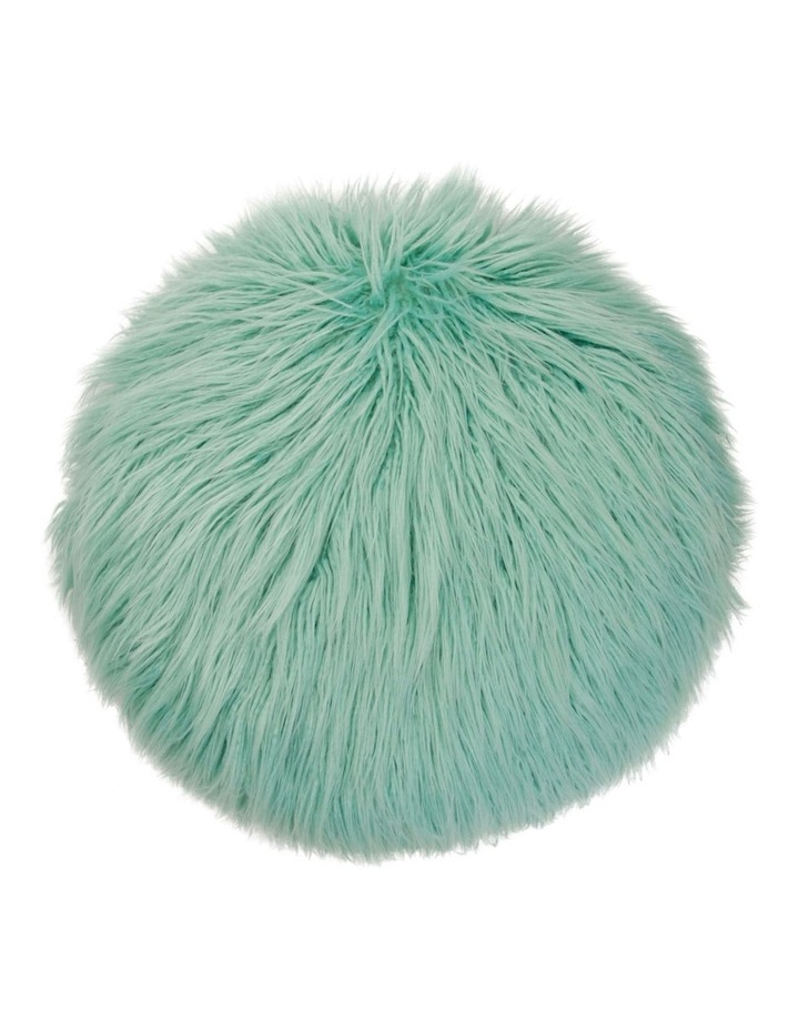 Mali Mongolian Faux Fur Round 40cm in Withered Rose image 1