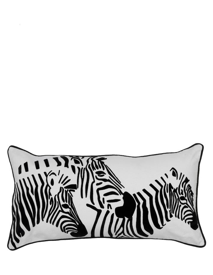Zapara Zebra Cush 30x60: White image 1