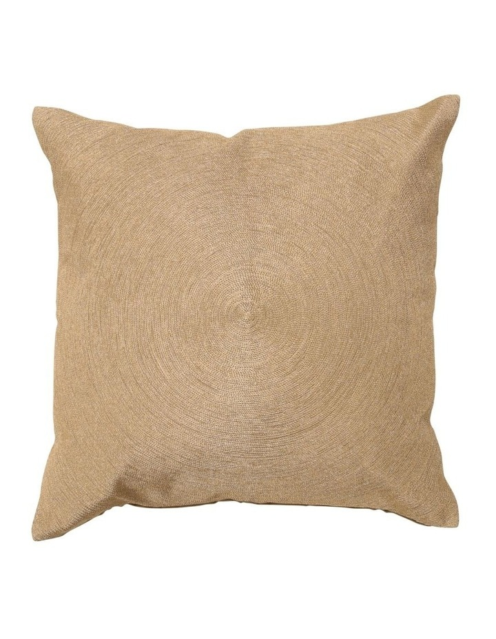 Patra Embroidered Cushion in Gold image 1