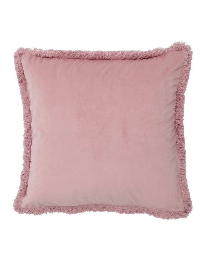 Burma Fringe Cushion in Pink image 1
