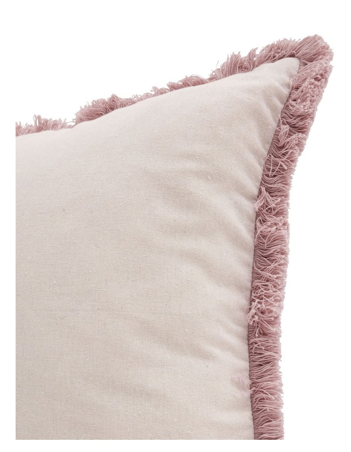Burma Fringe Cushion in Pink image 3