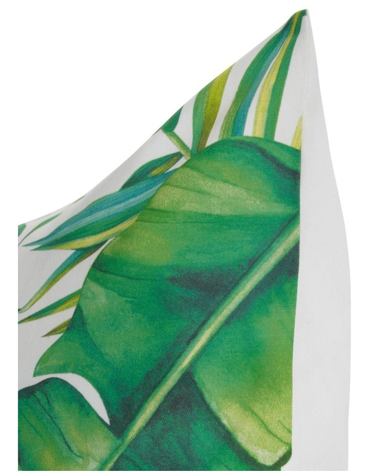 Laos Leaf Printed Cushion in Green image 2