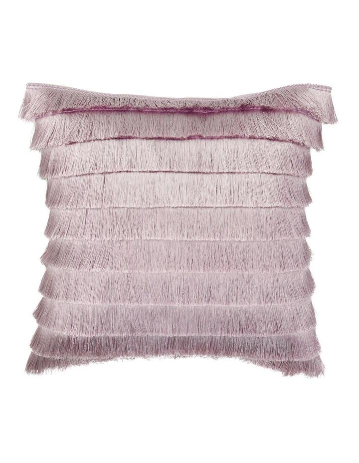 Mirabilis Tassel Fringe Cushion in Lilac image 1