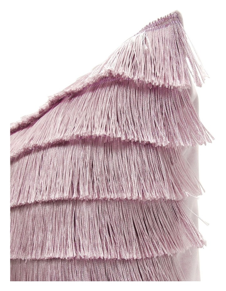 Mirabilis Tassel Fringe Cushion in Lilac image 2