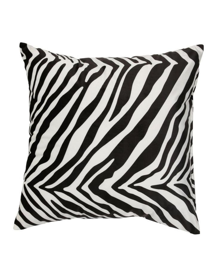 Comoros Digital Printed Cushion - Black/White image 1