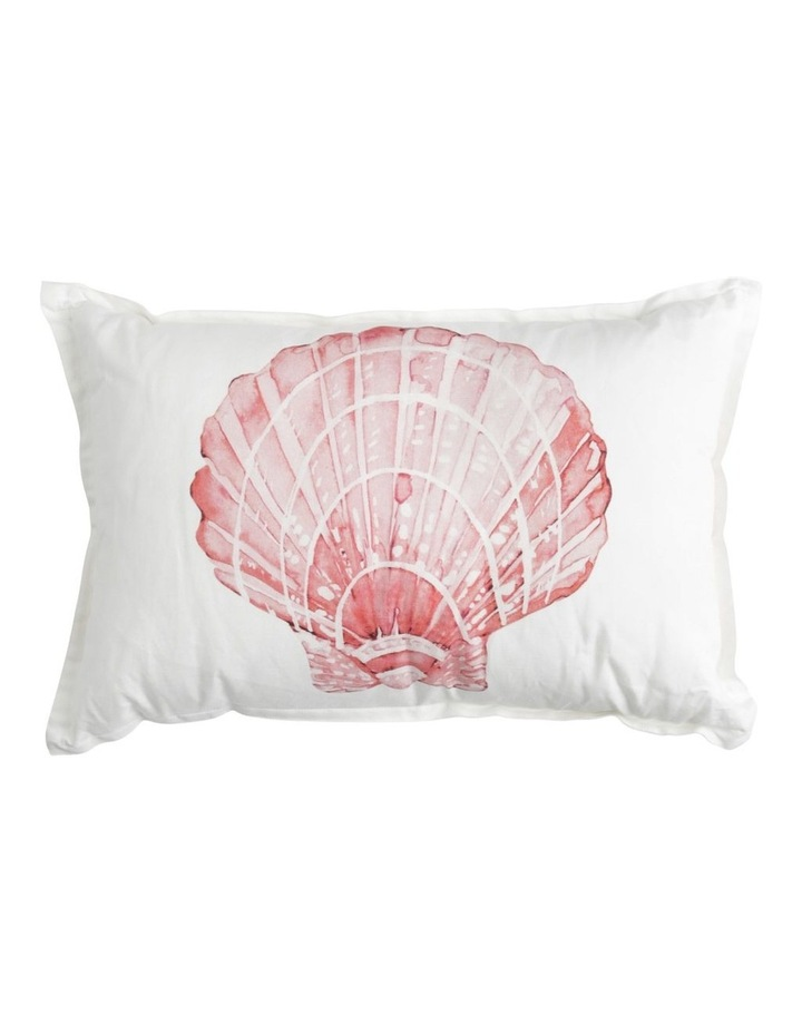 Port Fairy Linen Cotton Cushion in Coral image 1