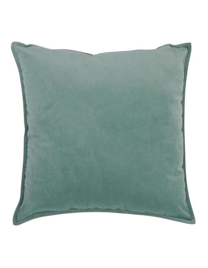 Vivienne Velvet Cushion in Turquoise image 1