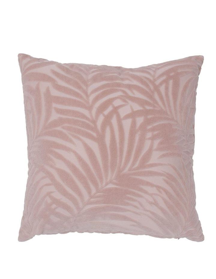 Santiago Embossed Leaf Cushion in Rose image 1