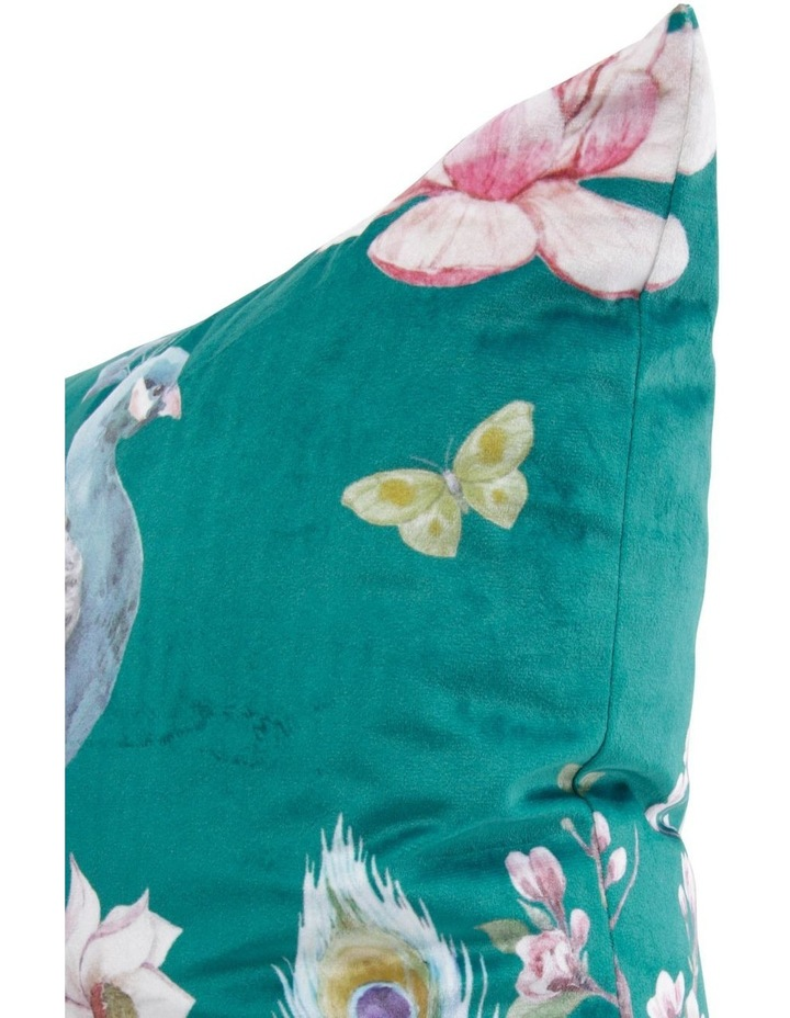 Galante Midnight Peacock Cushion in Teal image 2