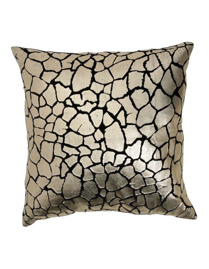 Pecora Giraffe Printed Metallic Velvet Cushion image 1