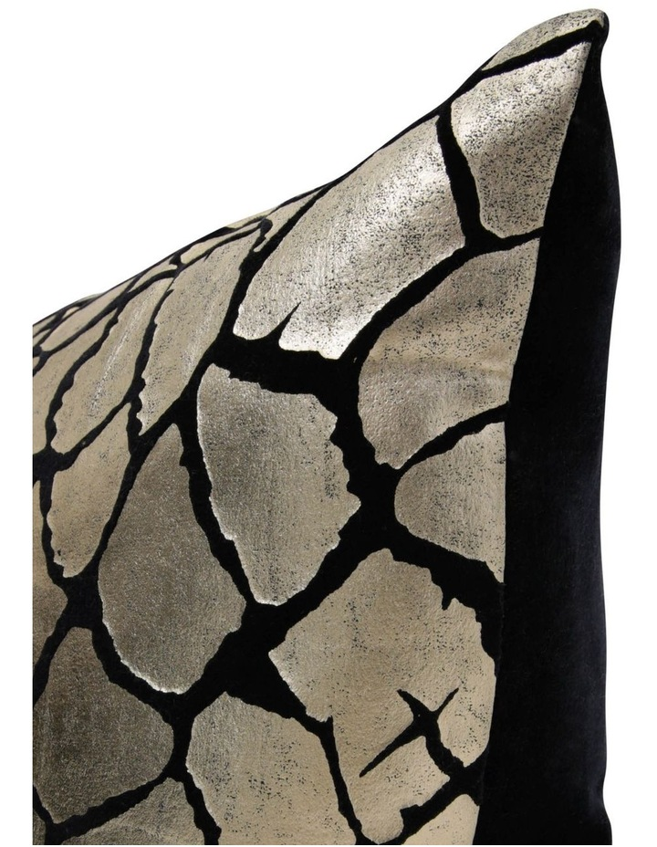 Pecora Giraffe Printed Metallic Velvet Cushion image 2