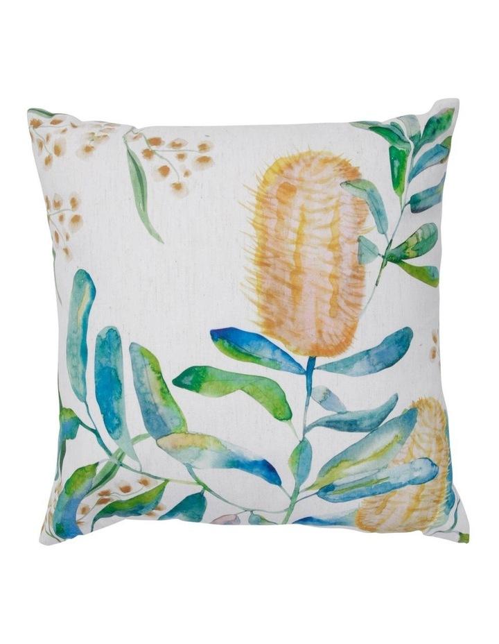 Coastal Banksia Hand-Painted Cushion image 1