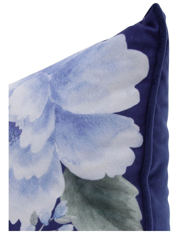 Henwood Floral Velvet Cushion in Navy image 2