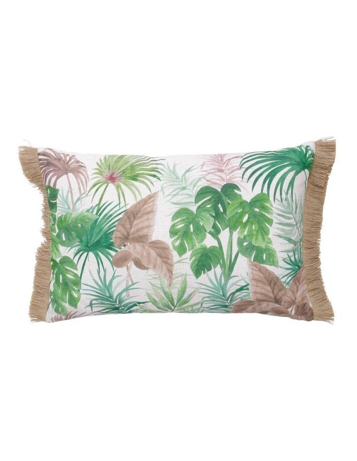 Nubian Jungle Leaf Fringed Breakfast Cushion image 1