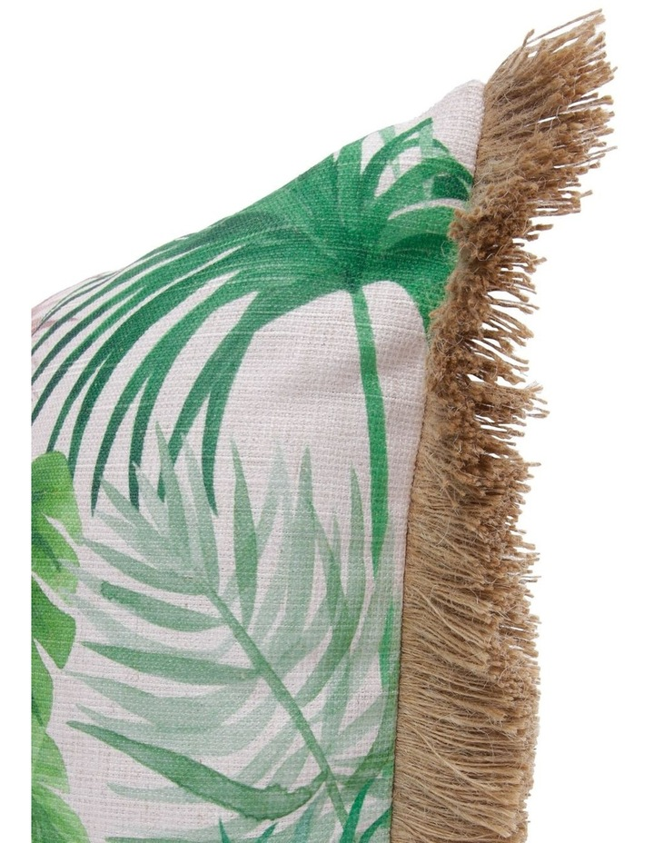 Nubian Jungle Leaf Fringed Breakfast Cushion image 2