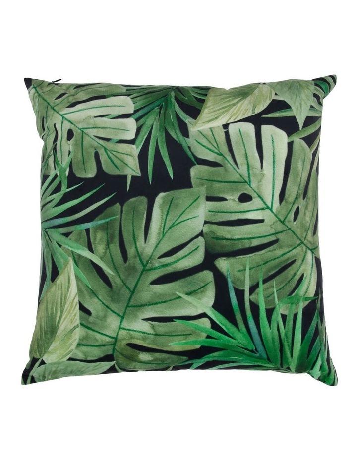 Conrad Dark Rainforest Velvet Cushion image 1