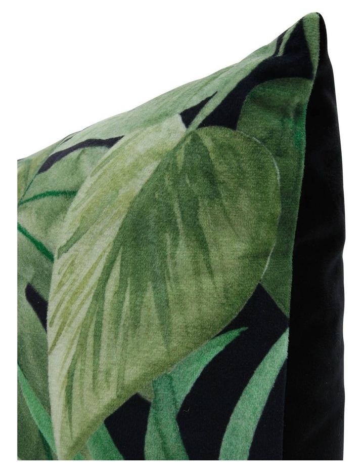 Conrad Dark Rainforest Velvet Cushion image 2