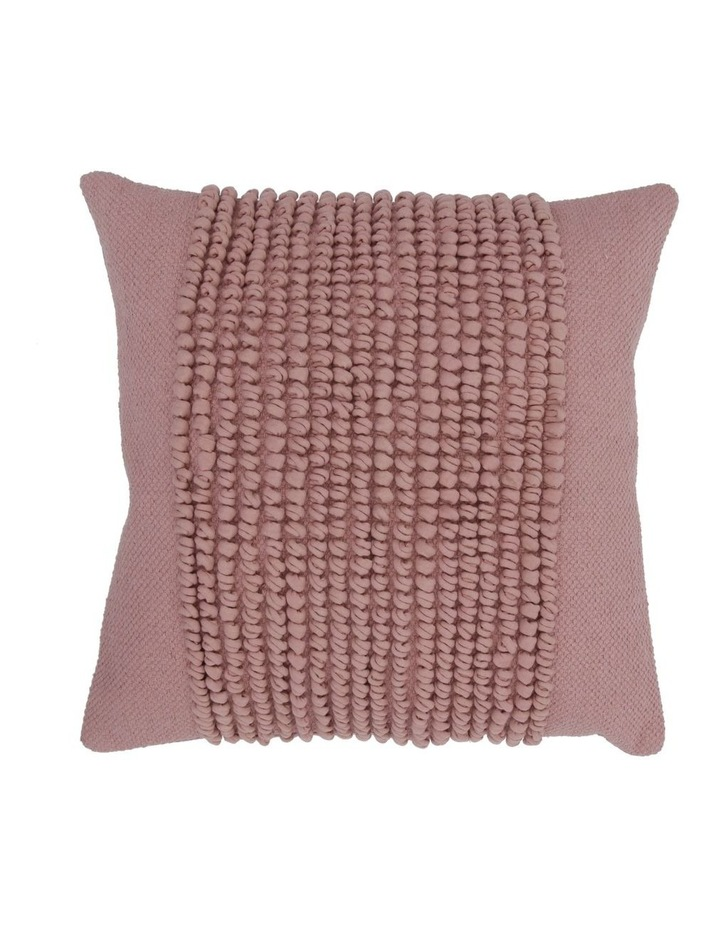 Belongil Cushion with Looped Centre in Pink image 1