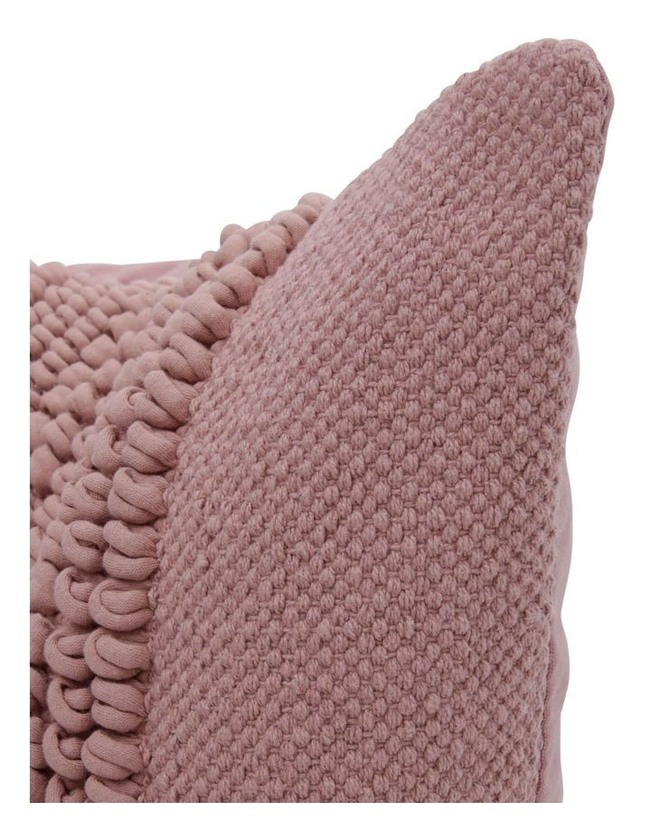 Belongil Cushion with Looped Centre in Pink image 2