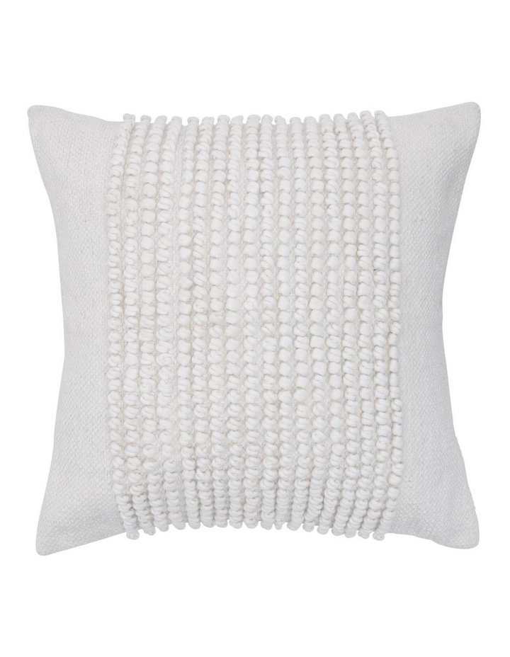 Belongil Cushion with Looped Centre in Off-White image 1