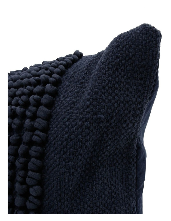 Belongil Cushion with Looped Centre in Navy image 1