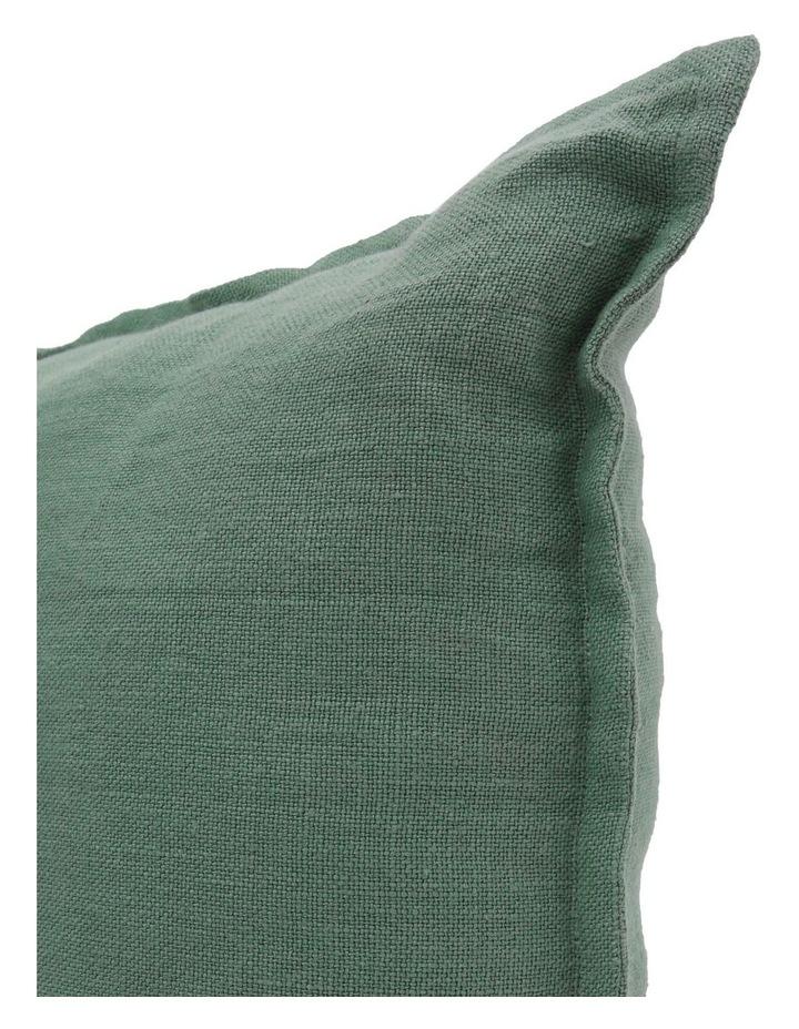 Lenox Linen Cushion with Flange Edge in Eucalyptus Green image 2