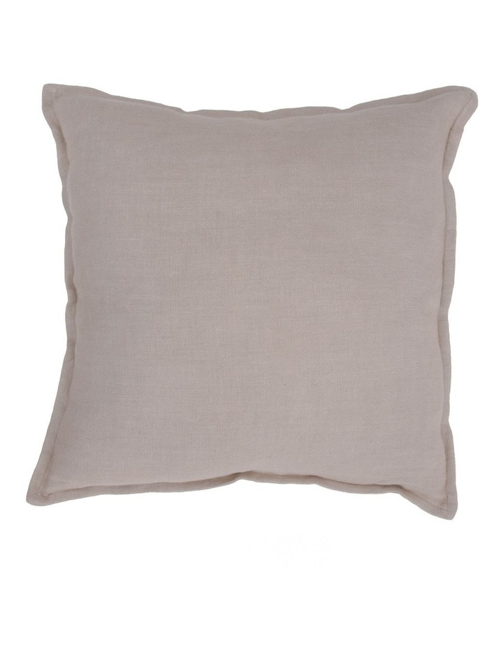 Lenox Linen Cushion with Flange Edge in Natural image 1