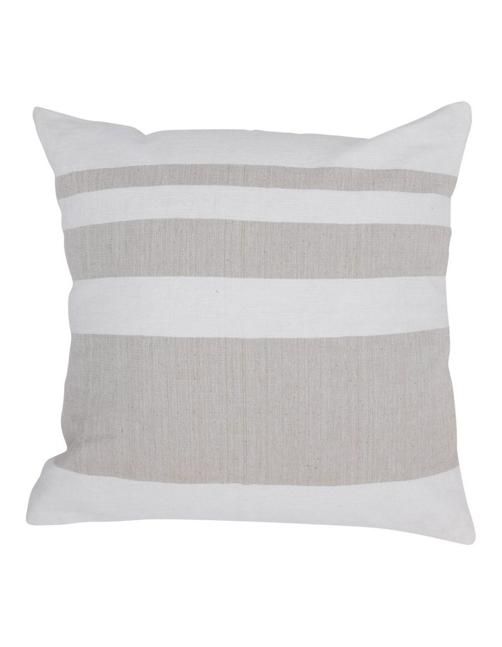 Lismore Striped Cotton Cushion in Natural image 1