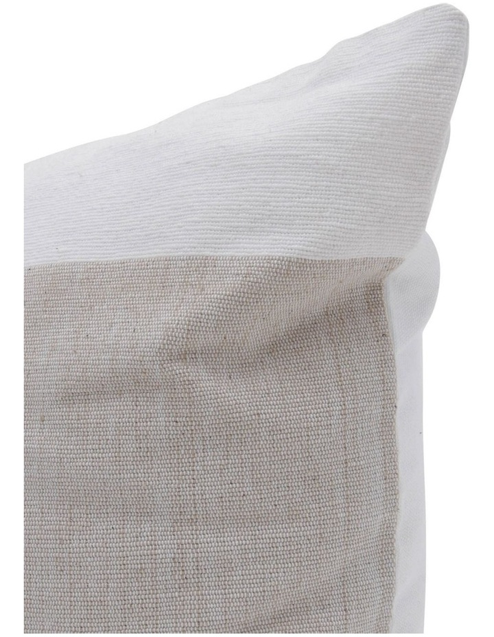 Lismore Striped Cotton Cushion in Natural image 2
