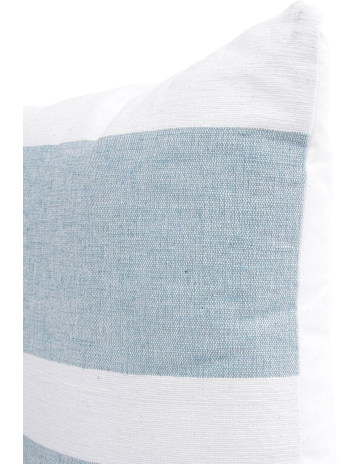 Lismore Striped Cotton Cushion in Ocean Blue image 2