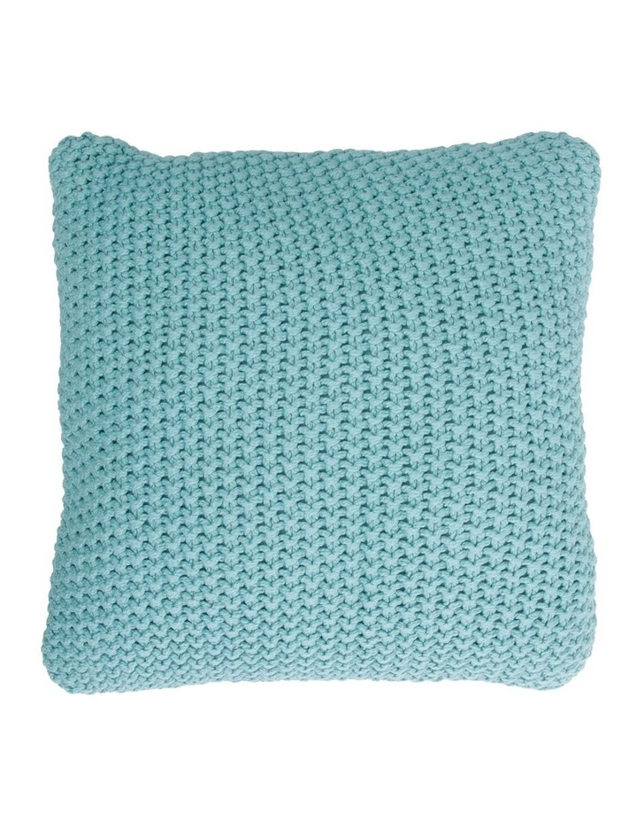 Norwood Knitted Cushion in Ocean Blue image 1