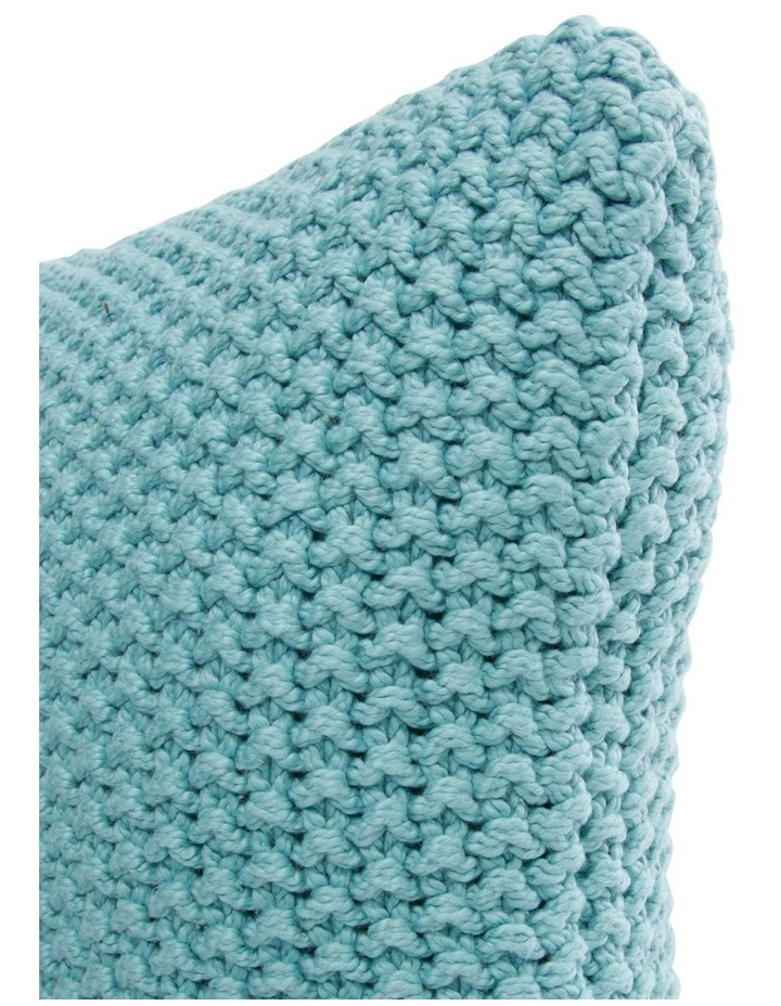 Norwood Knitted Cushion in Ocean Blue image 2
