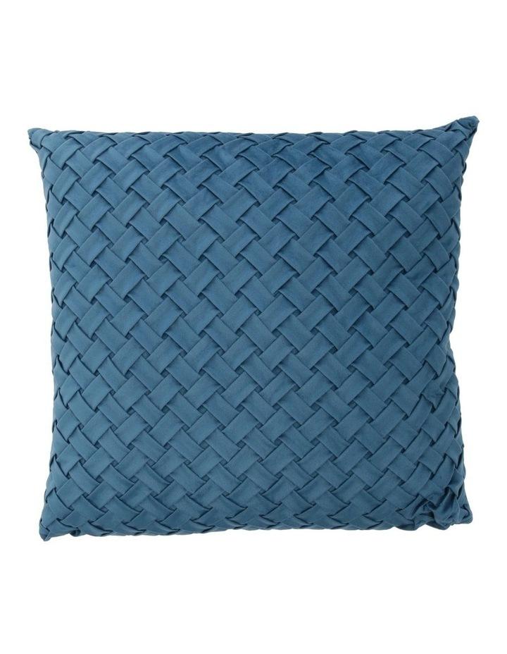 Rowland Woven Velvet Cushion in Teal image 1