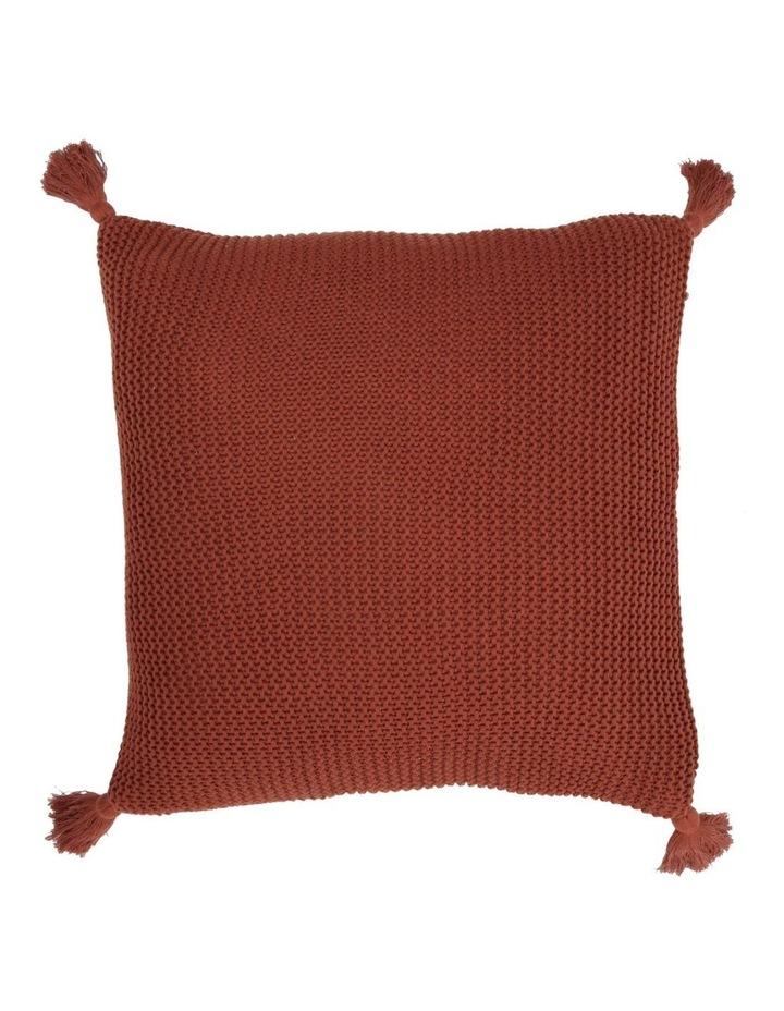 Melaky Tassel Cushion in Terracotta image 1