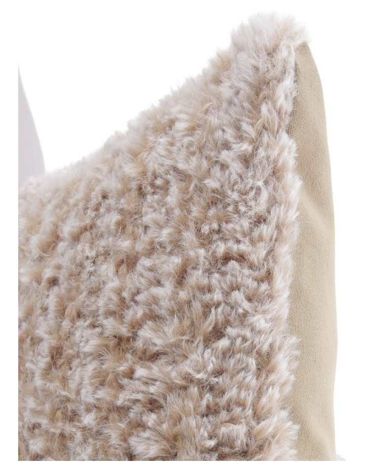 Eastleigh Faux Rabbit Fur Cushion in Brown image 2