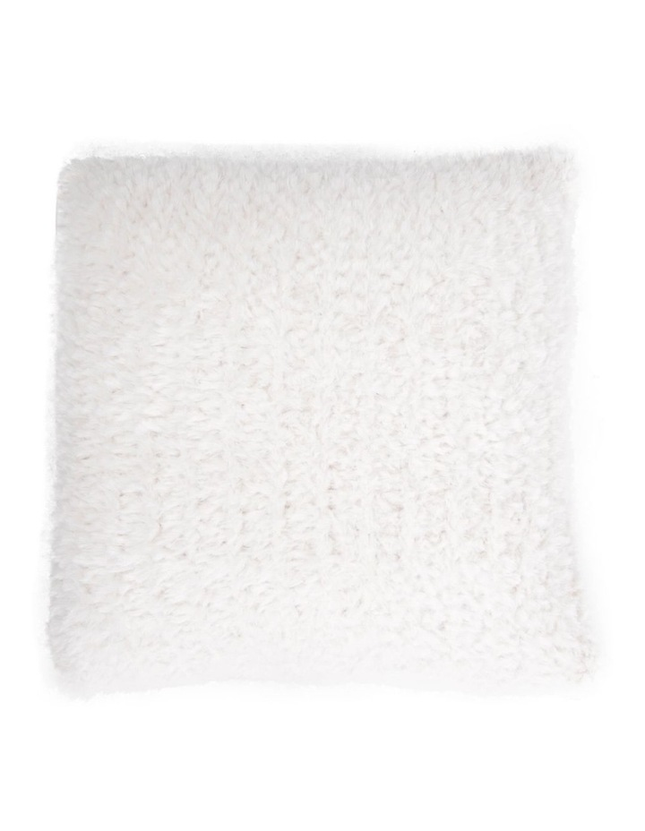 Eastleigh Faux Rabbit Fur Cushion in Off-White image 1