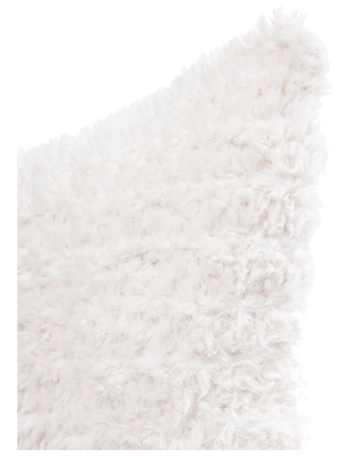 Eastleigh Faux Rabbit Fur Cushion in Off-White image 2