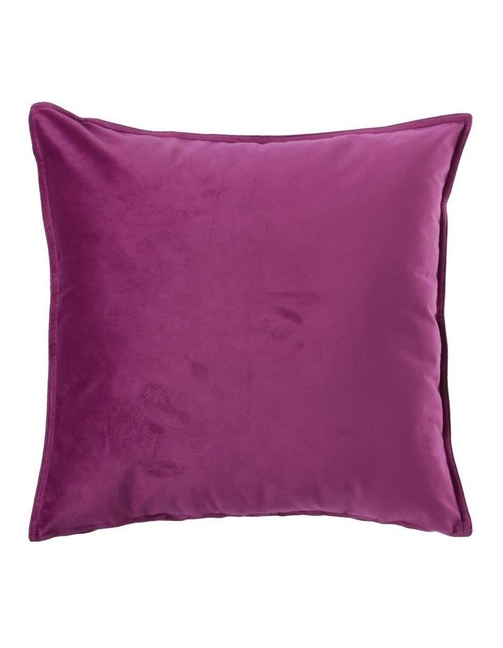 Vivienne Velvet Cushion in Violet image 1